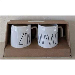 Rae Dun zen namaste mug set brand new